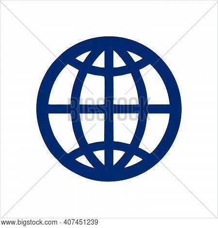 Globe Icon Isolated On White Background, Globe Icon Vector, Globe Icon, Globe Icon Image, Flat Globe