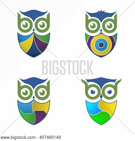 Bb Logo. Bb Font Design. Owl Image. Letter Bb Abstract Concept. Can Be Used As A Symbol Related To E