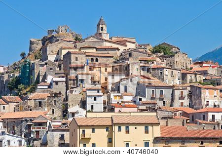 Cityscape. Panoramic view of Scalea. Calabria. Italy. poster