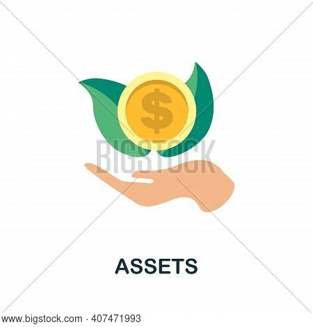 Assets Flat Icon. Color Simple Element From Fintech Collection. Creative Assets Icon For Web Design,