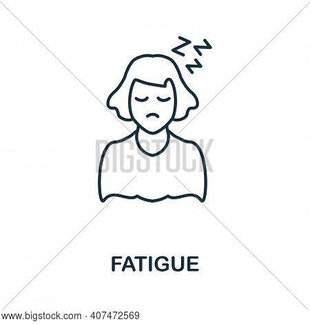 Fatigue Icon. Simple Illustration From Coronavirus Collection. Creative Fatigue Icon For Web Design,