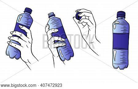 World Water Day. Water In A Plastic Bottle. Water Bottle In Hand.