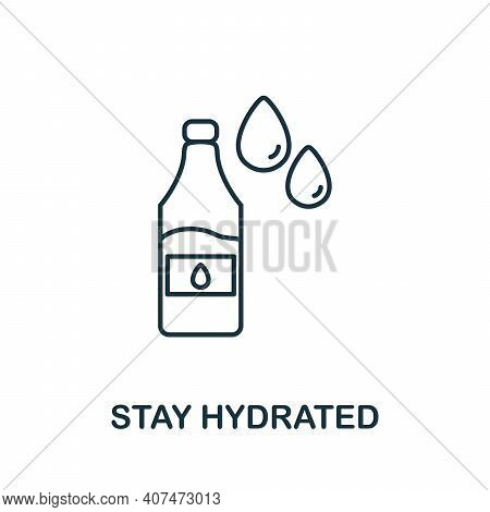 Stay Hydrated Icon. Simple Illustration From Coronavirus Collection. Creative Stay Hydrated Icon For