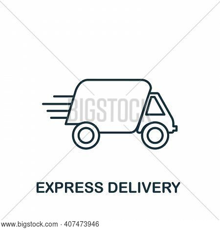 Express Delivery Icon. Simple Element From Delivery Collection. Creative Express Delivery Icon For W