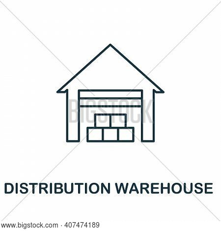 Distribution Warehouse Icon. Simple Element From Delivery Collection. Creative Distribution Warehous