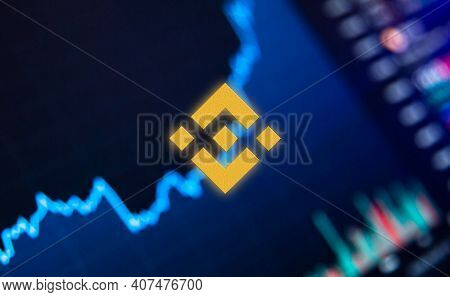 Binance Is A Finance Exchange Market. Crypto Currency Background Concept. Cryptocurrency Bnb Binance