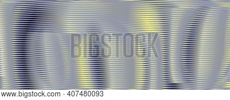 Abstract Deformation Linear Textured Banner With Soft Blending Of Curved Surface In Trendy Colors Of