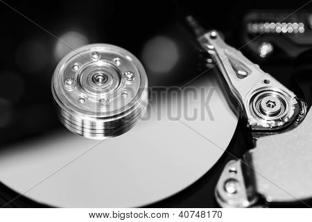 Hard Disk Platter With a Motion-Blurred Read/Write Head