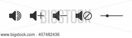 Volume Icons. Audio Speaker Volume Icons. Sound Icons. Volume Control. Vector Illustration
