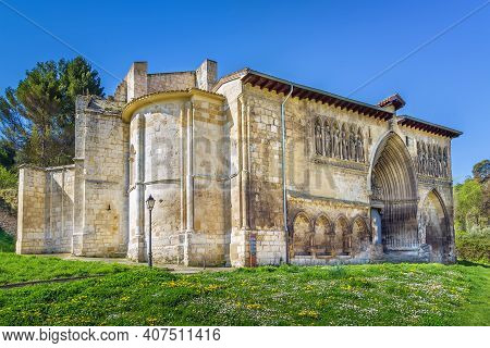 Church Of Holy Sepulchre Is One Of The Finest Examples Of Gothic Sculpture In Navarre, Estella, Spai