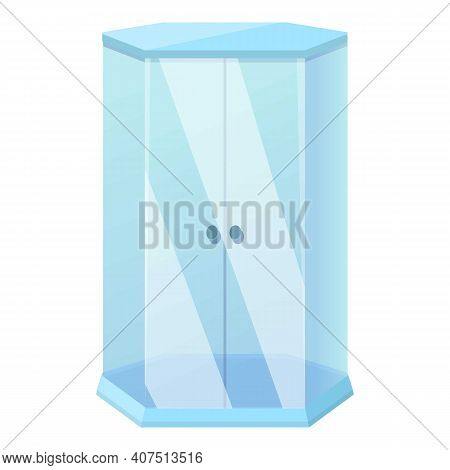 Shower Stall Compact Icon. Cartoon Of Shower Stall Compact Vector Icon For Web Design Isolated On Wh