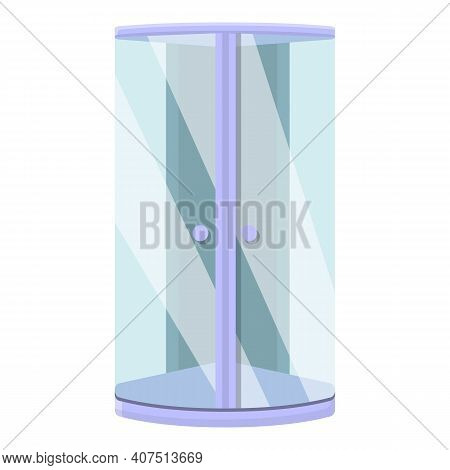 Apartment Shower Stall Icon. Cartoon Of Apartment Shower Stall Vector Icon For Web Design Isolated O