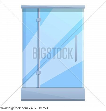 Cubicle Shower Stall Icon. Cartoon Of Cubicle Shower Stall Vector Icon For Web Design Isolated On Wh