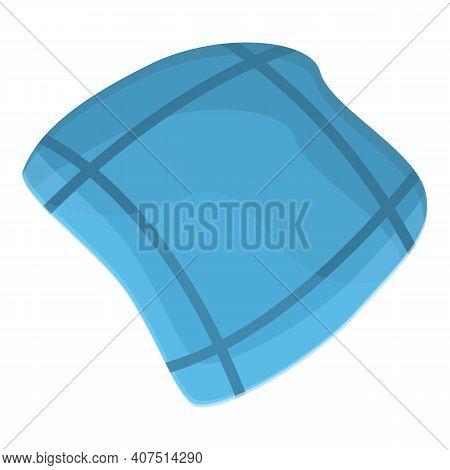 Cotton Handkerchief Icon. Cartoon Of Cotton Handkerchief Vector Icon For Web Design Isolated On Whit