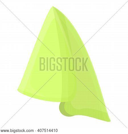 Towel Handkerchief Icon. Cartoon Of Towel Handkerchief Vector Icon For Web Design Isolated On White