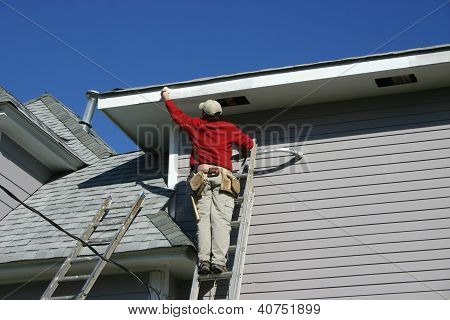 Painting the Fascia Board
