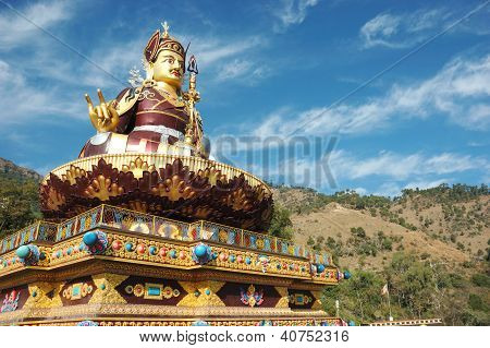 Big Golden Statue Of Padmasambhava,Rewalsar,India