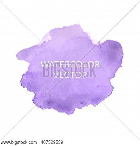Abstract Watercolor Splash. Watercolor Drop Vector Pink
