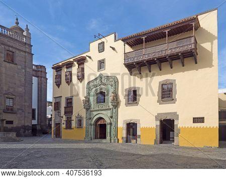Historic House Museum Of Christopher Columbus Casa De Colon At Square Plaza Del Pilar Nuovo At Old T