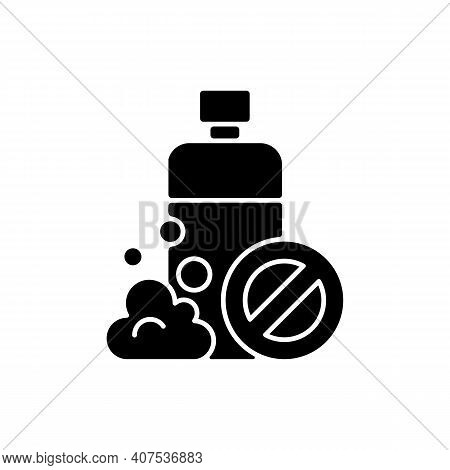 Sls Free Black Glyph Icon. Creation Of Cosmetics Without Harmful Chemical Additives. Natural Cosmeti