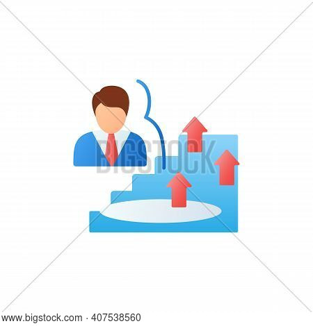 Growth Zone Flat Icon. Route To Success. Self Improvement And Self Realization. Business And Career