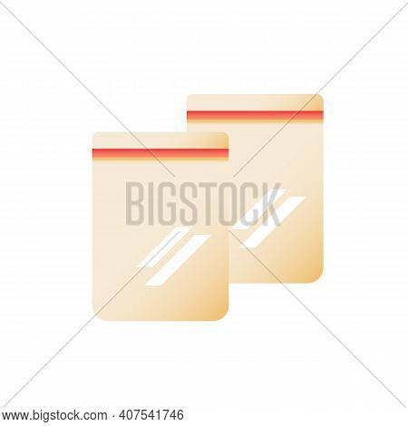 Takeout Package Vector Flat Color Icon. Plastic And Paper Bags For Shopping. Fast Food Delivery. Gro