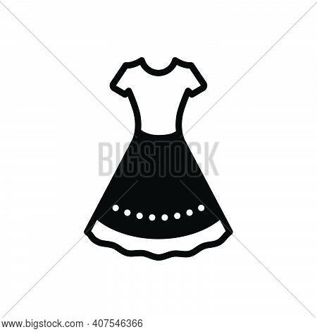 Black Solid Icon For Dress Frok Cloths Fashion Costume Attire Raiment Garment