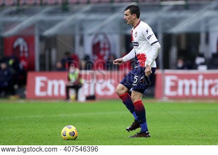 Milano, Italy. 07th February . Vladimir Golemic Of Fc Crotone  During The Serie A Match Between Ac M
