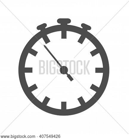 Simple Flat Timer Or Alarm Clock Icon Vector Illustration