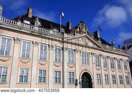 Embassy Of France In Copenhagen, Denmark. Diplomatic Office Of Republic Of France.