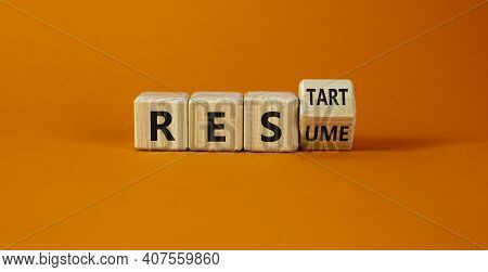 Rescue And Restart Symbol. Turned Cubes And Changed The Word 'rescue' To 'restart'. Beautiful Orange