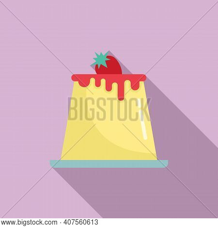 Cheesecake Icon. Flat Illustration Of Cheesecake Vector Icon For Web Design