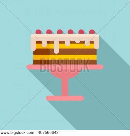 Homemade Cake Icon. Flat Illustration Of Homemade Cake Vector Icon For Web Design