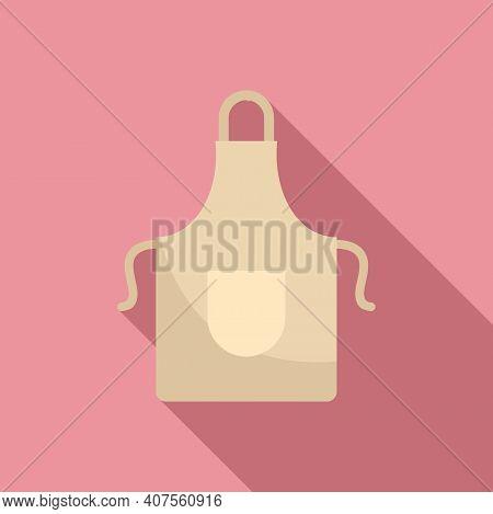 Kitchen Apron Icon. Flat Illustration Of Kitchen Apron Vector Icon For Web Design