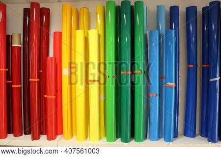 Colorful Film Rolls Adhesive Film In Different Colors