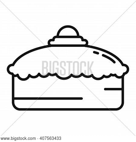 Confectioner Cake Icon. Outline Confectioner Cake Vector Icon For Web Design Isolated On White Backg