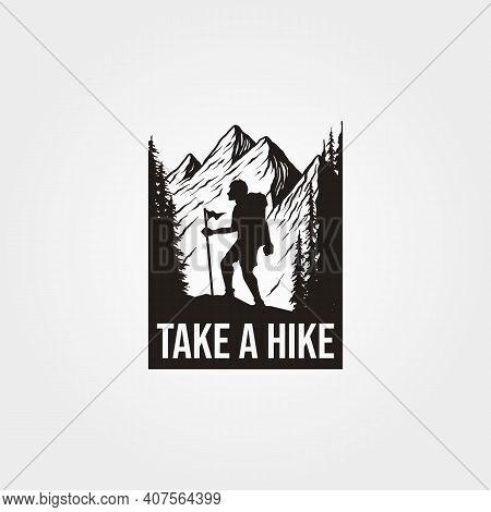 Take A Hike T Shirt Background Illustration Design