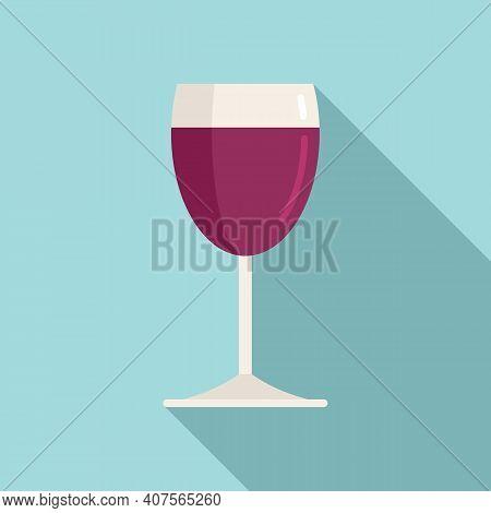 Tasting Wine Glass Icon. Flat Illustration Of Tasting Wine Glass Vector Icon For Web Design