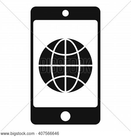 Smartphone Translator Icon. Simple Illustration Of Smartphone Translator Vector Icon For Web Design