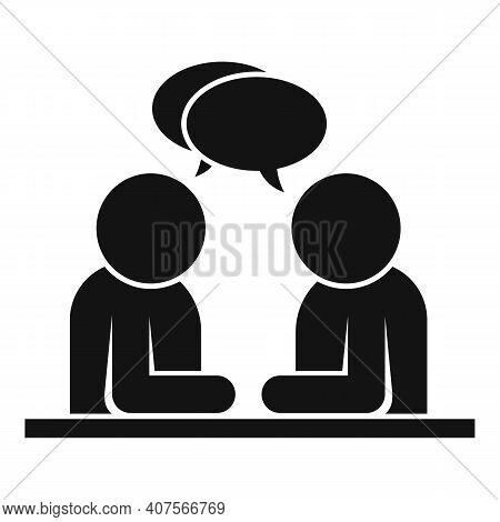 Interpreter Translator Icon. Simple Illustration Of Interpreter Translator Vector Icon For Web Desig
