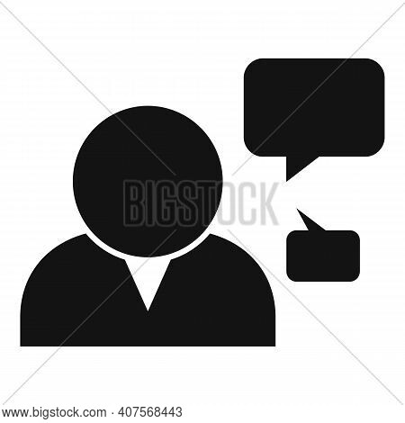 Announcer Chat Icon. Simple Illustration Of Announcer Chat Vector Icon For Web Design Isolated On Wh
