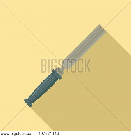 Chisel Handle Icon. Flat Illustration Of Chisel Handle Vector Icon For Web Design