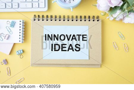Innovative Ideas, Business Innovation Concept In Messy Office Interior