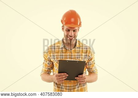 You Deserve Very Best Master. Master Builder Isolated On White. Happy Master At Work. Constructor We