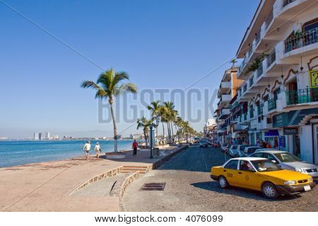 Main Road In Puerto Vallarta