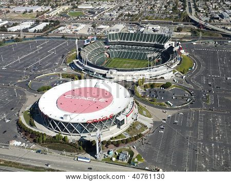 Oakland, Ca, Usa-october 2011:oakland-alameda County Coliseum Arena And O.co Coliseum On October 26,