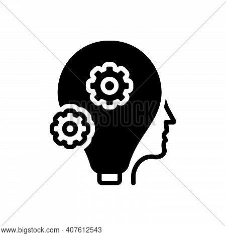 Black Solid Icon For Smart Clever Sharp Bright Idea Shrewd