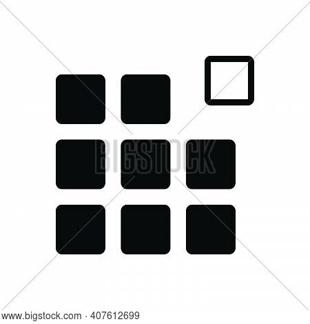 Black Solid Icon For Pixel Pattern Picture-element Raster Pel Element