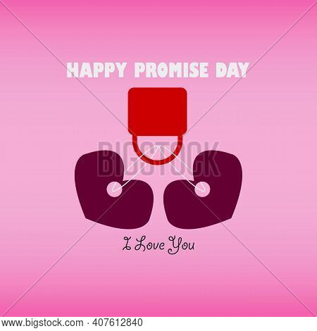 Promise Day Vector Design. Celebrate Before Valentine's Day With Your Love One. Happy Love Locked.