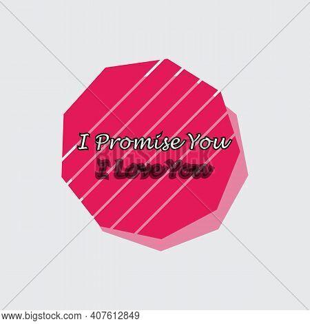 Happy Promise Day 11 February Vector Illustration Love Valentine Week Poster Design. Social Media Po